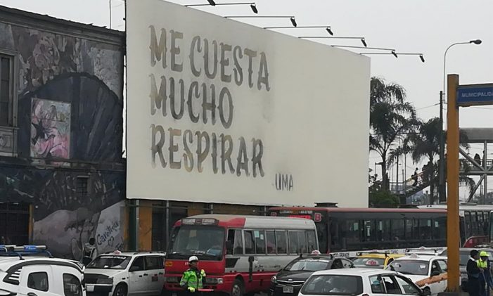 CALIDDA's innovative OOH campaign uses Lima's air pollution to make a point