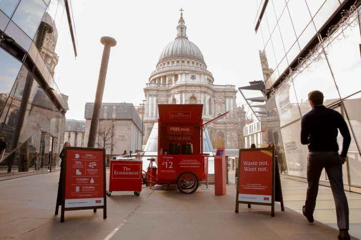 The Economist adds winter flavour to food waste-themed experiential campaign