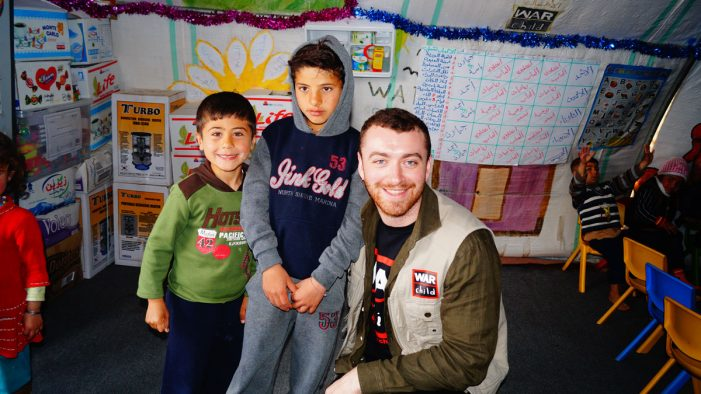 Global Superstar Sam Smith Appeals for Help for Children in War