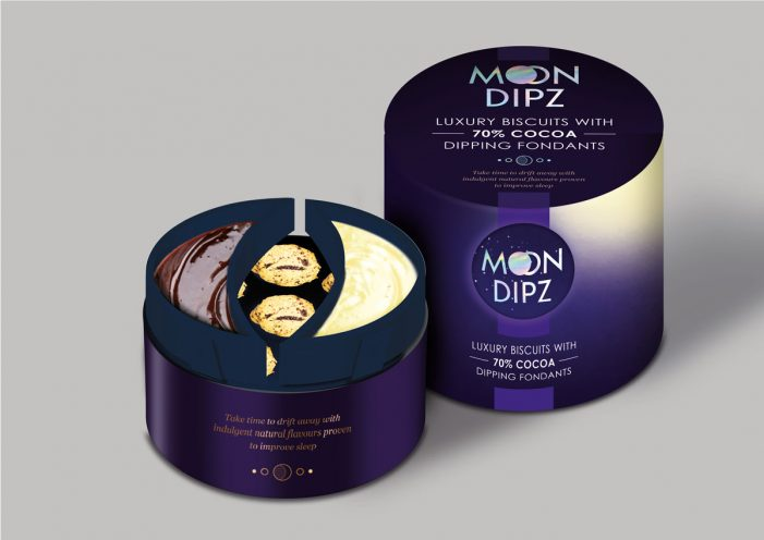 Brandon brands concept biscuit brand Moon Dipz for The Grocer