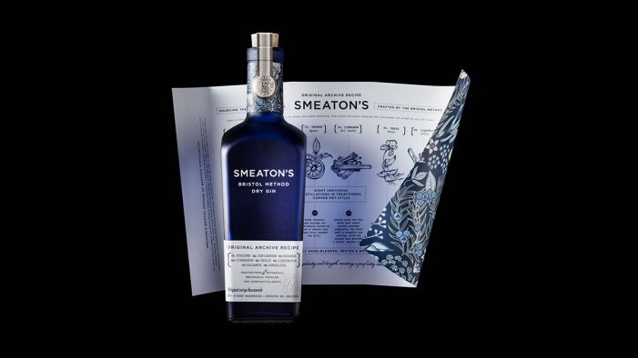 Historic Bristol Method Dry Gin Smeaton's Launches with Design by Denomination