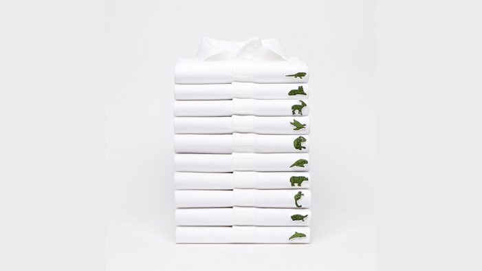 BETC replaces the iconic Lacoste crocodile logo to raise awareness for IUCN