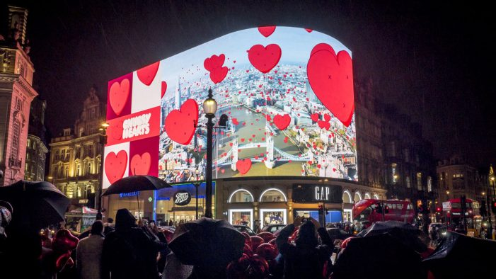 Ocean Outdoor and Landsec share the Chubby Hearts London love