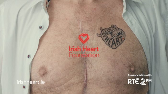 Temporary tattoo targets Ireland's top killer in new Irish Heart Foundation ad