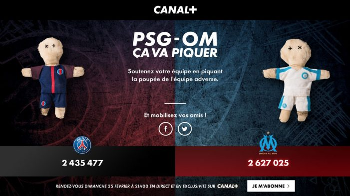 BETC and Canal+ encourage French football fans to pin digital voodoo dolls ahead of Le Classico