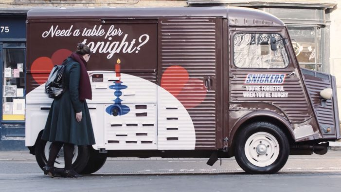 Snickers and AMV BBDO Create Restaurant Experience for Forgetful Valentine's Day Lovers