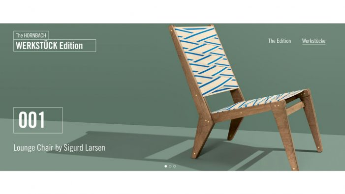 Heimat and Hornbach team with architect Sigurd Larsen on Werkstück 'Lounge Chair' campaign