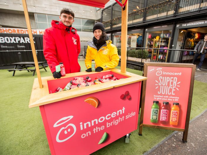 innocent Super Juice Gives Londoners a Vitamin Boost to Make their Day Super
