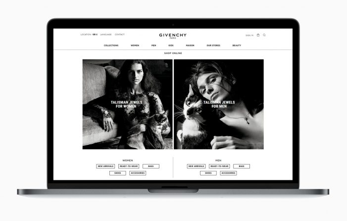 Givenchy Rolls Out E-Commerce Platform to New European Markets