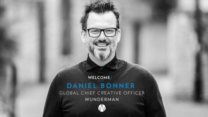 Daniel Bonner joins Wunderman as Global Chief Creative Officer