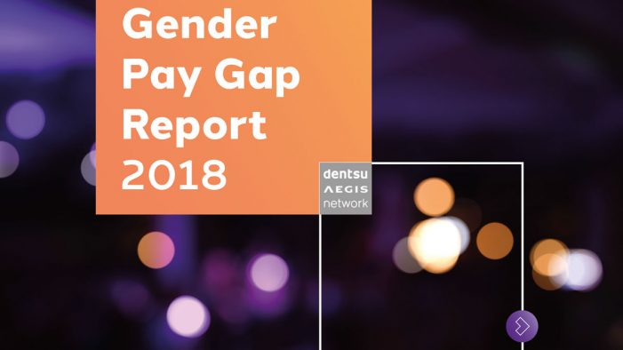 Dentsu Aegis Network reveals 14.1% gender pay gap, lower than 18.4% national average