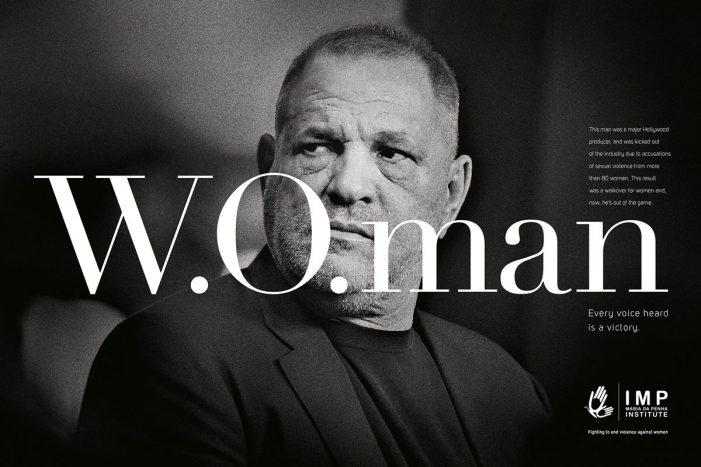 'W.O.' becomes 'W.O.man' in a campaign by F.biz for the Maria da Penha Institute