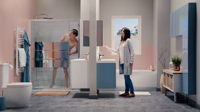 B&Q transforms a chaotic family bathroom into a modern haven in new campaign by WCRS