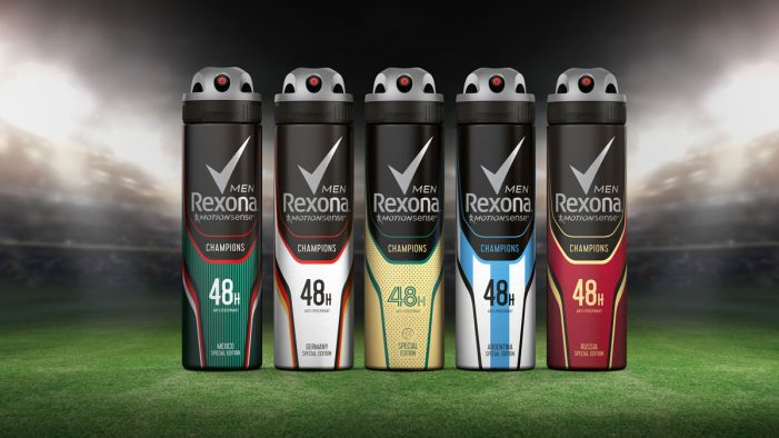 Rexona launches a new 'champions' line-up, with design by PB Creative
