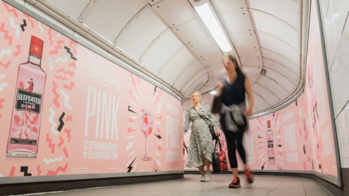 Pernod Ricard Brings New Scented OOH Campaign to London Underground for Launch of Beefeater Pink
