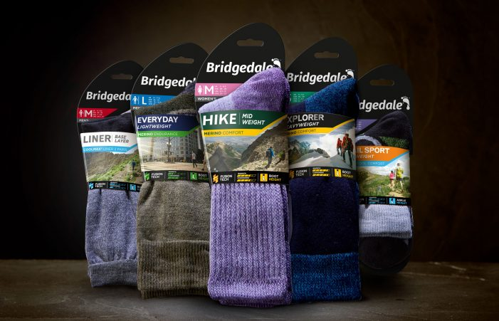 Brandon launches fresh design and new look for Bridgedale socks