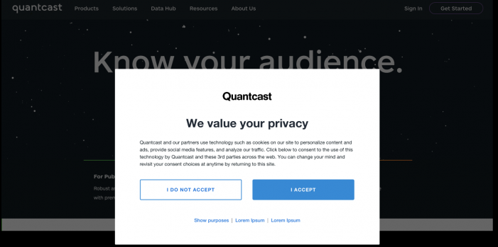 Quantcast launches widely available implementation of IAB Europe's GDPR Transparency & Consent Framework