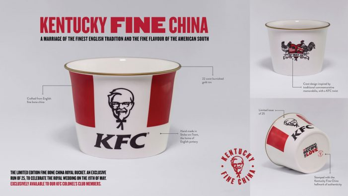 KFC's Colonel's Club Celebrates the Royal Wedding with Kentucky Fine China