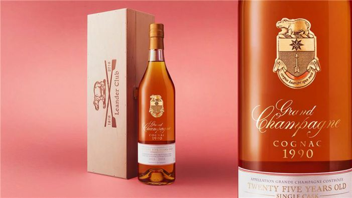 Leander Club Celebrates 200-Years with an 'Early Landed 1990' Vintage Grand Champagne Cognac Designed by bluemarlin
