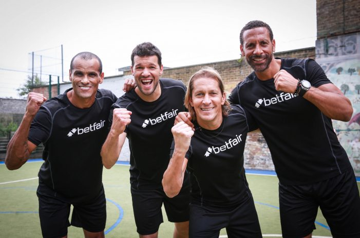 Football legends line up for surprise five-a-side match for Betfair