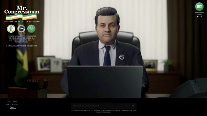 MTV uses AI and creates the average Brazilian politician