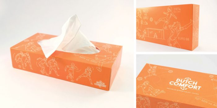 Iris Amsterdam helps Dutch fans dry their tears during the FIFA World Cup