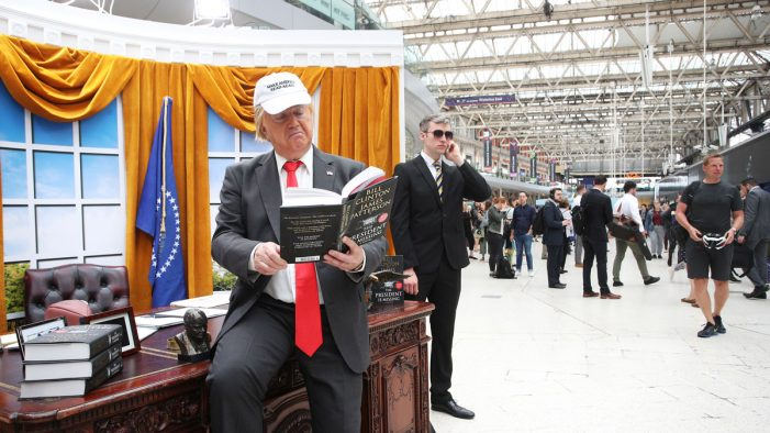'President Trump' opened the most famous office in the world for commuters at Waterloo Station