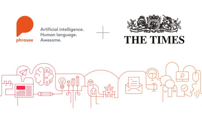 The Times signs up to Phrasee's AI for optimised email subject line generation for marketing campaigns