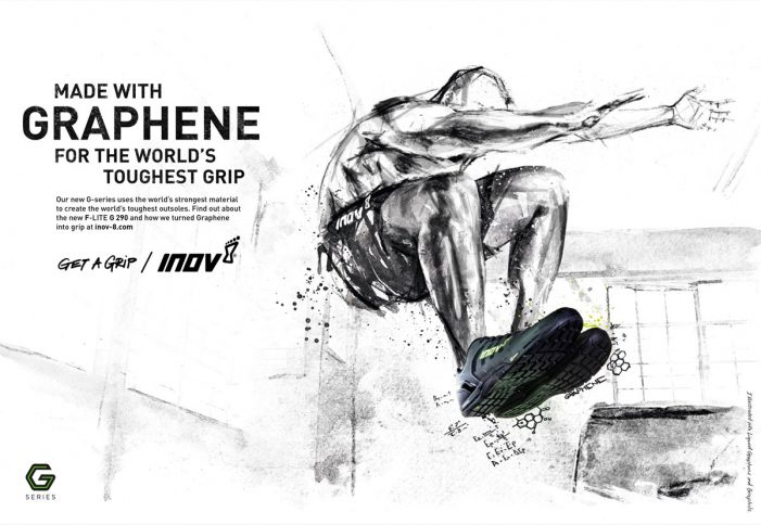 Cheetham Bell paint with liquid graphene to launch Inov-8's revolutionary G-SERIES shoes