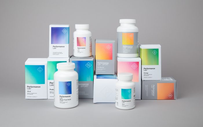 Robot Food create the identity for new premium lifestyle supplement brand Performance Lab