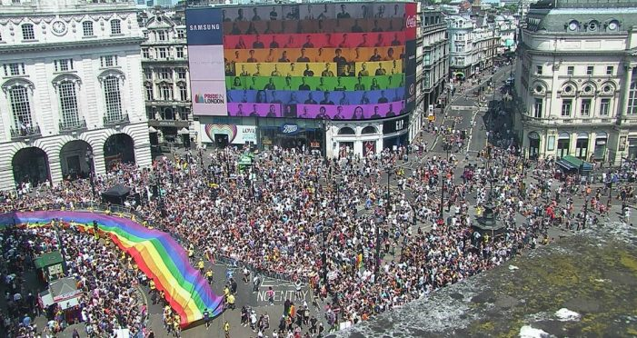 Landsec's Piccadilly Lights joins Pride in London Parade with first ever audio-synched campaign