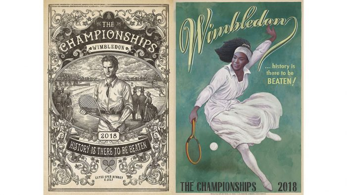 "Wimbledon launches illustrated OOH Campaign by McCann London, celebrating the idea that ""History is There to be Beaten"""