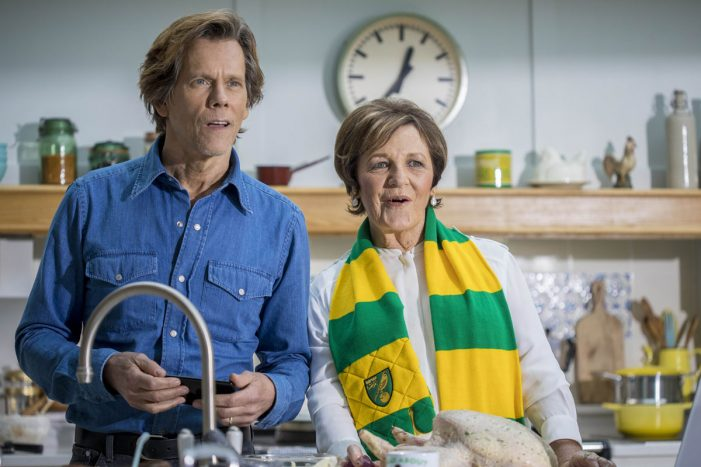 Delia Smith joins Kevin Bacon to show how EE customers can cast BT Sport action from their phone to the TV
