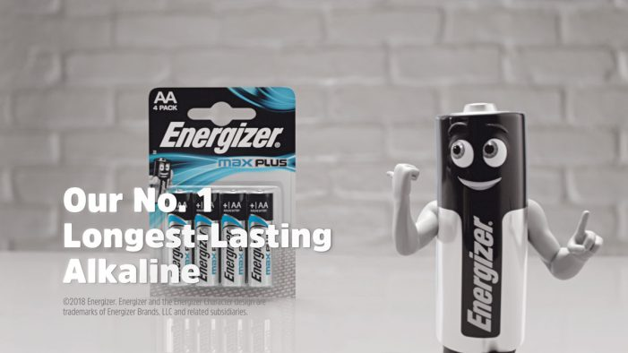 Energizer introduces its longest-lasting AA alkaline battery in TV advert