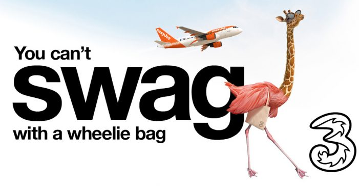 Three and easyJet celebrate exciting two-year partnership with new TV ad and the return of Giraffamingo