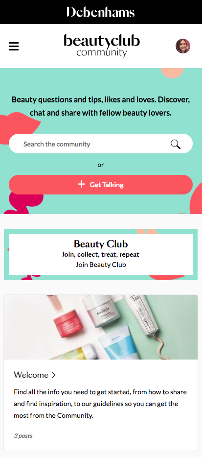a481cdb35b1 The first initiative, Beauty Club Community, is the UK's first loyalty  based digital social platform and launches September 10, putting customers'  front and ...