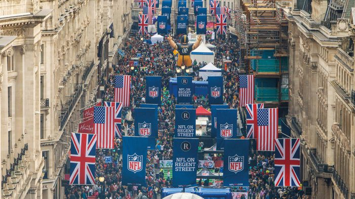 Wasserman brings the NFL to life with a Piccadilly Circus takeover
