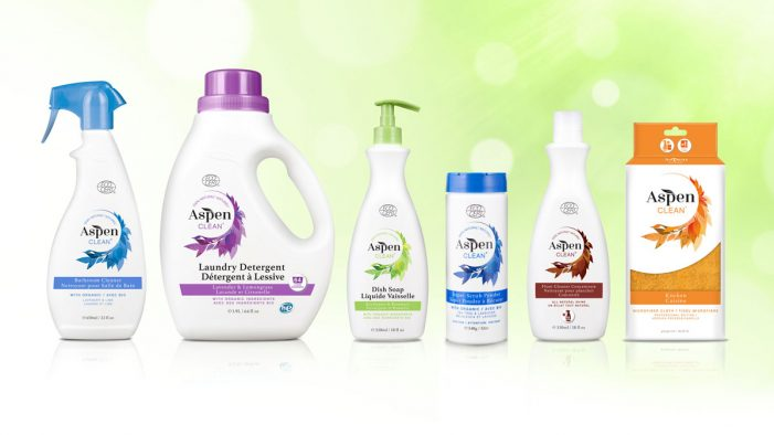 Slice Design launches new packaging design for AspenClean