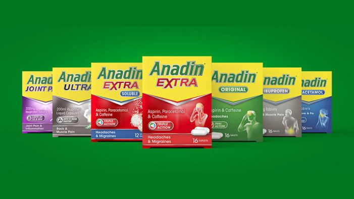 Pain-free packaging refresh for Anadin by Path