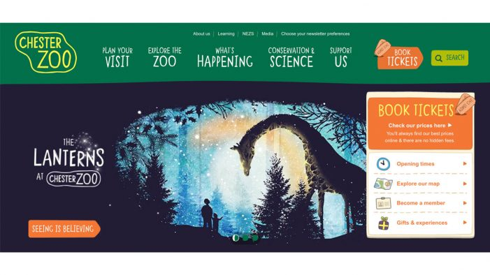Ultimate appointed to relaunch Chester Zoo's website