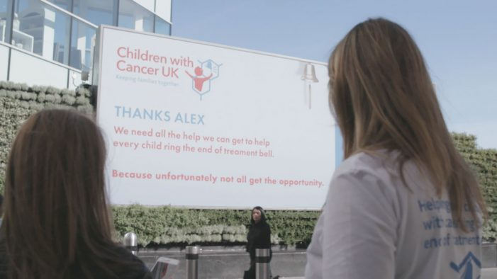 "Children with Cancer UK launch social video ""Ring the Bell"" featuring interactive donation billboard"