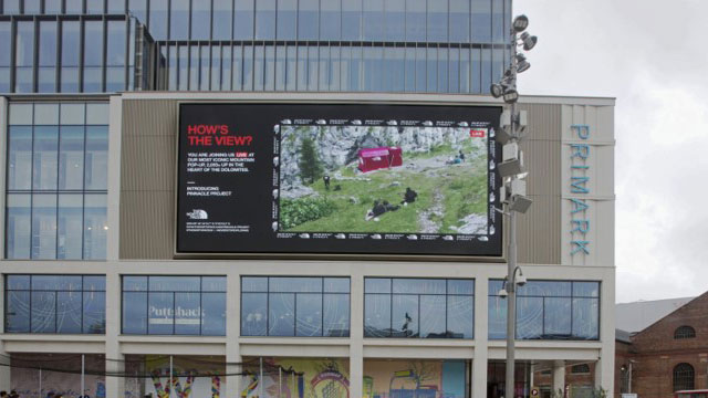 The North Face uses DOOH to live stream opening of iconic pop-up shop to UK fans