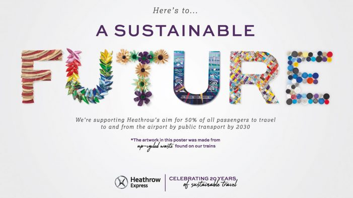 Heathrow Express celebrates 20-years of sustainability with upcycled rubbish