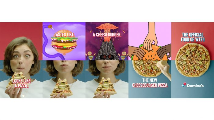 Domino's Unveil the Cheeseburger Pizza in New 'the Official Food of WTF!' Campaign