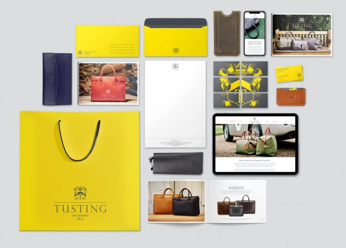 Straight Forward Design rebrands 'unsung' British leather goods brand, Tusting