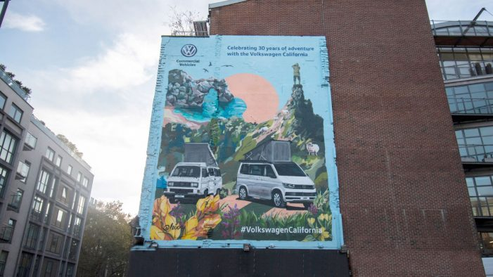Tribal Worldwide London take over central London with iconic mural for Volkswagen Commercial Vehicles UK