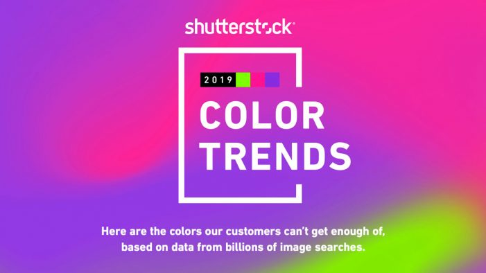 Shutterstock's 2019 Colour Trends Identifies Fastest Growing Colours in Popularity Around the World