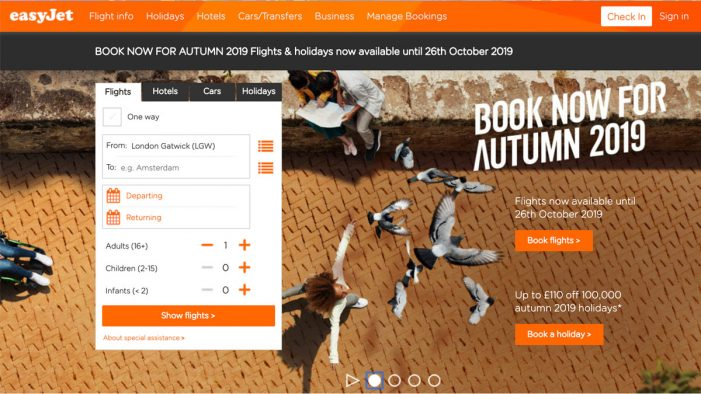 easyJet puts its autumn flights on sale across Europe