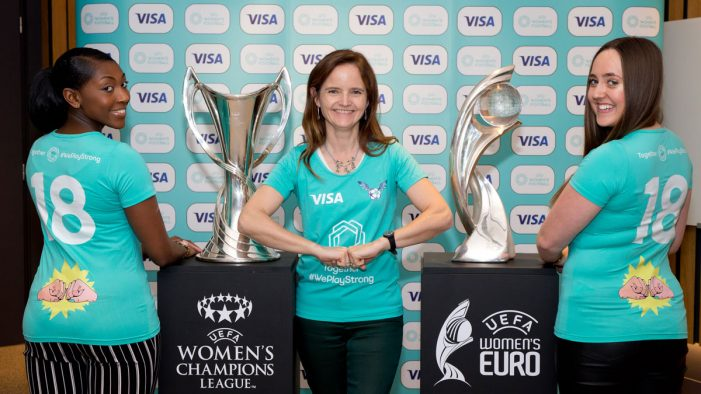 VISA signs groundbreaking women's football deal with UEFA