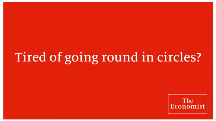 The Economist marks another Brexit vote by driving a special message round (and round) Parliament Square